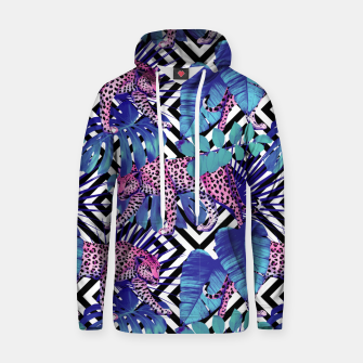 Thumbnail image of Tropical Leopards Hoodie, Live Heroes