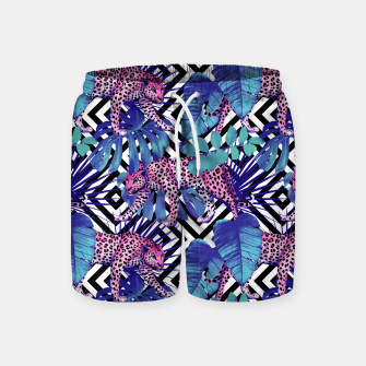 Thumbnail image of Tropical Leopards Swim Shorts, Live Heroes