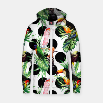 Thumbnail image of Tropical Birds Zip up hoodie, Live Heroes