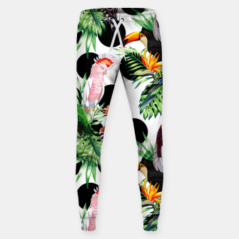 Thumbnail image of Tropical Birds Sweatpants, Live Heroes