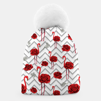 Thumbnail image of Roses Flamingos Beanie, Live Heroes