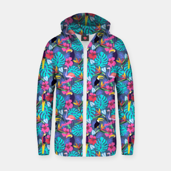 Thumbnail image of Tropical Plants Zip up hoodie, Live Heroes