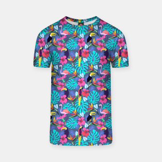 Miniatur Tropical Plants T-shirt, Live Heroes