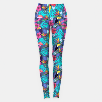Tropical Plants Leggings Bild der Miniatur