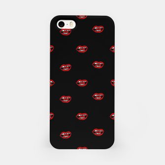 Thumbnail image of Cartoon Style Mouths Drawing Pattern iPhone Case, Live Heroes