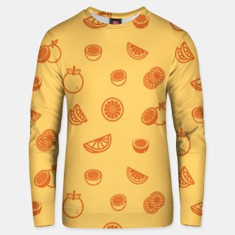 Orange Unisex sweatshirt Bild der Miniatur