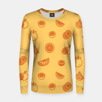 Orange Frauen sweatshirt Bild der Miniatur