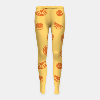 Orange Kinder-Leggins Bild der Miniatur