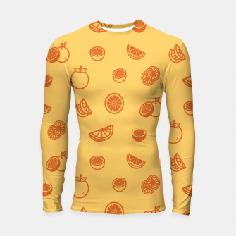 Thumbnail image of Orange Longsleeve rashguard, Live Heroes