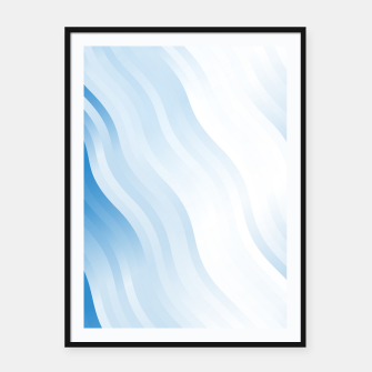 Miniatur wavy lines pattern wb Framed poster, Live Heroes