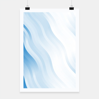 Miniatur wavy lines pattern wb Poster, Live Heroes