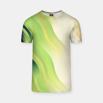 Thumbnail image of wavy lines pattern r7 T-shirt, Live Heroes