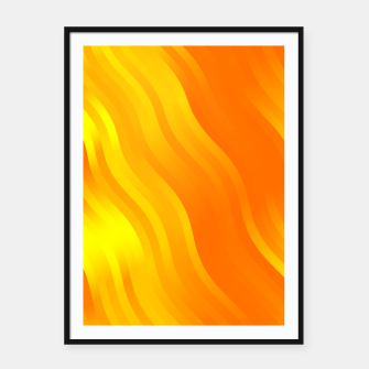 Thumbnail image of wavy lines pattern yo Framed poster, Live Heroes