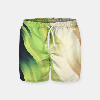 Thumbnail image of wavy lines pattern r7 Swim Shorts, Live Heroes