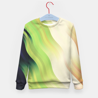 Thumbnail image of wavy lines pattern r7 Kid's sweater, Live Heroes