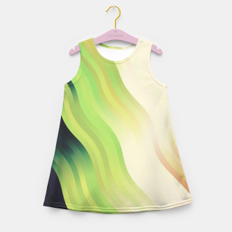 Thumbnail image of wavy lines pattern r7 Girl's summer dress, Live Heroes