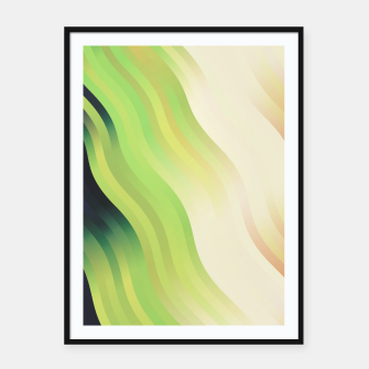 Miniatur wavy lines pattern r7 Framed poster, Live Heroes