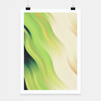 Miniatur wavy lines pattern r7 Poster, Live Heroes