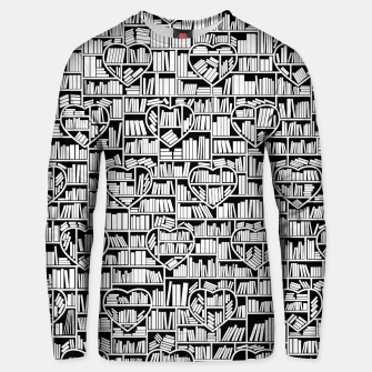 Book Lover Heart Library Pattern Unisex sweater thumbnail image