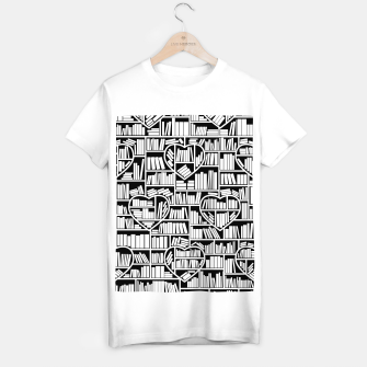 Thumbnail image of Book Lover Heart Library Pattern T-shirt regular, Live Heroes