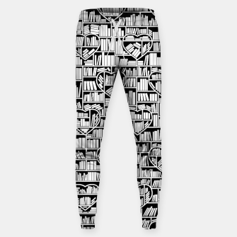 Book Lover Heart Library Pattern Sweatpants thumbnail image