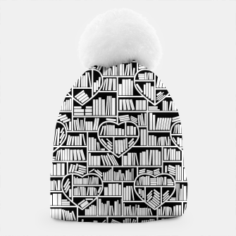 Book Lover Heart Library Pattern Beanie thumbnail image