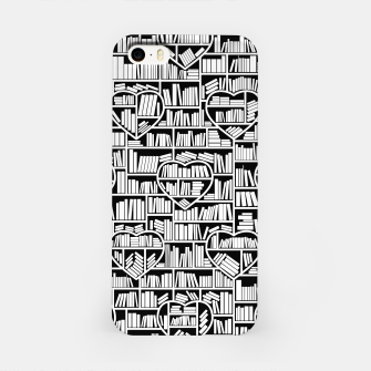 Book Lover Heart Library Pattern iPhone Case thumbnail image