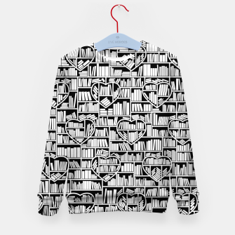 Book Lover Heart Library Pattern Kid's sweater thumbnail image