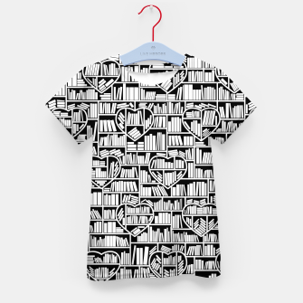 Thumbnail image of Book Lover Heart Library Pattern Kid's t-shirt, Live Heroes