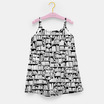 Thumbnail image of Book Lover Heart Library Pattern Girl's dress, Live Heroes