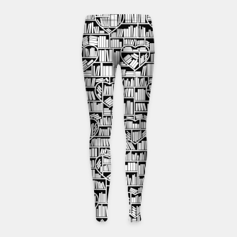 Thumbnail image of Book Lover Heart Library Pattern Girl's leggings, Live Heroes