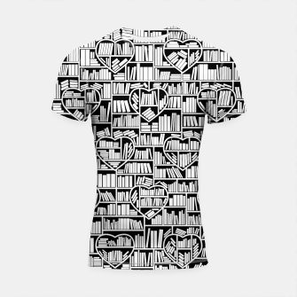 Thumbnail image of Book Lover Heart Library Pattern Shortsleeve rashguard, Live Heroes