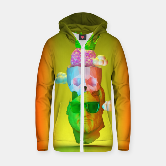Thumbnail image of Thinking of Summer Zip up hoodie, Live Heroes