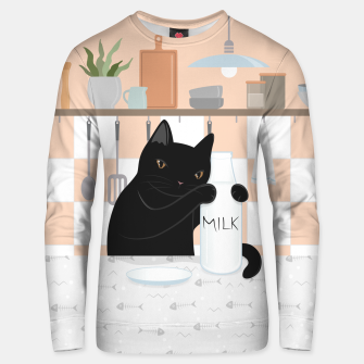 Thumbnail image of Sweet Milky Morning on Cat's Kitchen Unisex sweater, Live Heroes