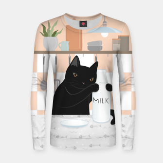 Thumbnail image of Sweet Milky Morning on Cat's Kitchen Women sweater, Live Heroes