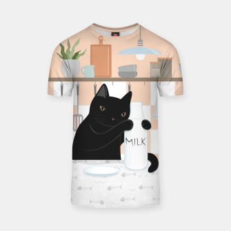 Thumbnail image of Sweet Milky Morning on Cat's Kitchen T-shirt, Live Heroes