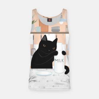 Thumbnail image of Sweet Milky Morning on Cat's Kitchen Tank Top, Live Heroes
