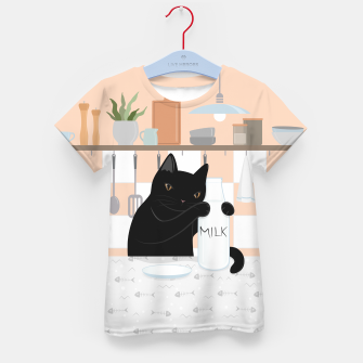 Thumbnail image of Sweet Milky Morning on Cat's Kitchen Kid's t-shirt, Live Heroes