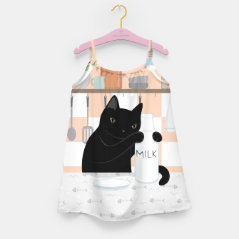 Thumbnail image of Sweet Milky Morning on Cat's Kitchen Girl's dress, Live Heroes