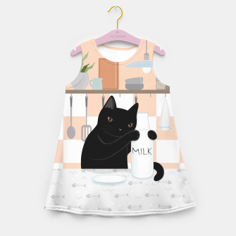 Thumbnail image of Sweet Milky Morning on Cat's Kitchen Girl's summer dress, Live Heroes