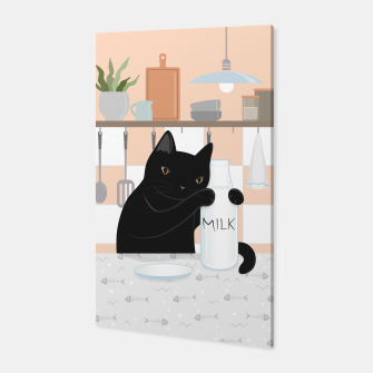 Thumbnail image of Sweet Milky Morning on Cat's Kitchen Canvas, Live Heroes