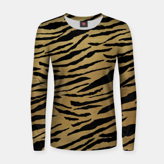 Thumbnail image of Tiger Animal Print Glam #1 #pattern #decor #art  Frauen sweatshirt, Live Heroes