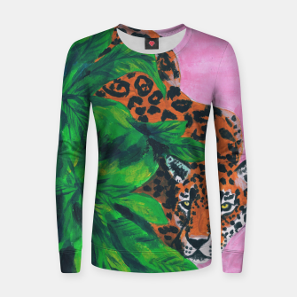 Thumbnail image of jungle cat Women sweater, Live Heroes