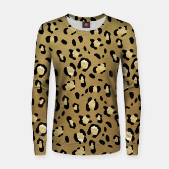 Thumbnail image of Leopard Animal Print Glam #1 #pattern #decor #art  Frauen sweatshirt, Live Heroes