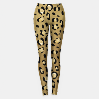 Leopard Animal Print Glam #1 #pattern #decor #art  Leggings thumbnail image