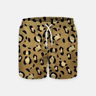 Leopard Animal Print Glam #1 #pattern #decor #art  Badeshorts thumbnail image