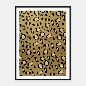 Thumbnail image of Leopard Animal Print Glam #1 #pattern #decor #art  Plakat mit rahmen, Live Heroes