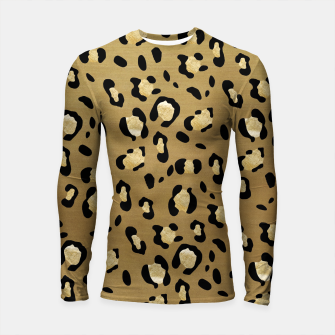 Thumbnail image of Leopard Animal Print Glam #1 #pattern #decor #art  Longsleeve rashguard, Live Heroes