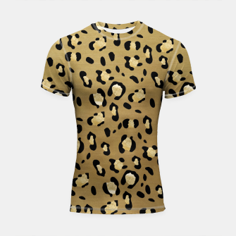 Thumbnail image of Leopard Animal Print Glam #1 #pattern #decor #art  Shortsleeve rashguard, Live Heroes