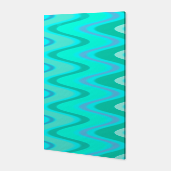Turquoise Curves Canvas thumbnail image
